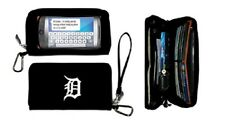 New Touch Screen  Smartphone Deluxe Wallet MLB Licensed DETROIT TIGERS Black