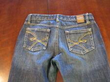 Bke Buckle women's junior Elite Flare blue denim Jeans W 28 x L 31 1/2