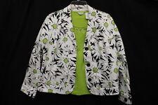 LAURA ASHLEY 2 Piece Blazer & T-Shirt Set, Cotton Blend,Mult-Color,Womens PM-B15