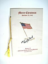 "Dec.25,1942 Menu ""Battery A 29th Coast Artillery Training Battalion"" in Texas*"