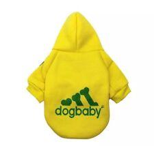 Hundebekleidung Hundeshirt Pullover Hoodie Dogbaby Gelb Gr. M Kapuzenpulli Pulli