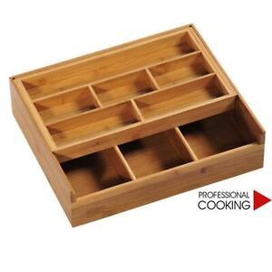 Kesper contenitore porta oggetti scatola in legno di bamboo da cassetto