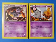 3x Grumpig 60/149, 4x Spoink 59/149 Pokemon card BW Boundaries Crossed NM