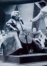 1970 Cellist ZARA NELSOVA Original REAL candid ACTION PHOTO Cello CONCERT Jewish