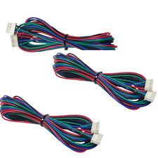 3pcs Extended NEMA 17 Stepper Motor Cable for NEMA17 2 Meter 2M Long 4 6 Pin JST