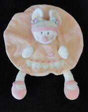 Doudou plat Souris champignon rose orange champignon NICOTOY KIABI N-33