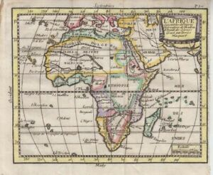 1749 Attractive Buffier Map of Africa