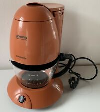 Cafetière filtre vintage Rowenta—Orange foncé—En fonctionnement—Années 70