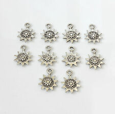 10pcs Tibetan Silver Small Sun Charms Pagan/Celtic