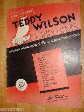 Teddy Wilson Piano Rhythms 1937 Benny Goodman Quartette