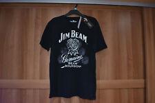 "BNWT Genuine Jim Beam Bourbon Black T-Shirt Top Gift Small S 89-94cm 35-37"" New"