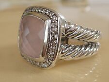 DAVID YURMAN ALBION ROSE QUARTZ DIAMOND ICE RING