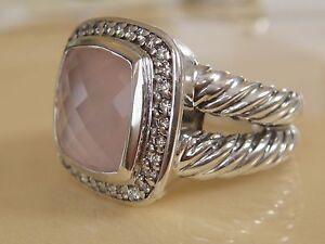 DAVID YURMAN ALBION ROSE QUARTZ DIAMOND ICE RING