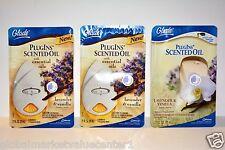 GLADE plugIns Lavender & Vanilla 3 Holder warmers & 3 SCENTED oil Refills New