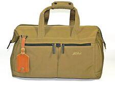 LL Bean Nylon Bag Carry On Weekender Khaki