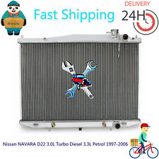 Radiator For Nissan NAVARA D22 3.0L Turbo Diesel 3.3L Petrol 1997-2006 Auto/Man