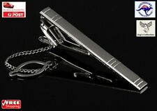 Silver Metal Simple Necktie Tie Clip Bar Clasp Pin Practical for Men [A5U~B33]