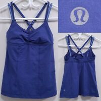 Lululemon Purple Blue Tank Top Size 4 XS Racerback Straps Yoga Running Shirt