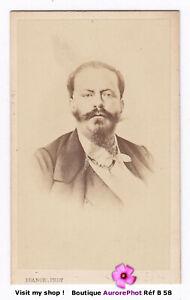VICTOR-EMMANUEL II, ROI D'ITALIE, PERSONNALITÉ, CDV FRANCK à PARIS 1870 -B58