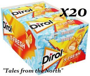 Chewing gum Dirol X-Fresh Ice Mandarin, Sugar Free, 20 pcs x 16g (0.56 oz)