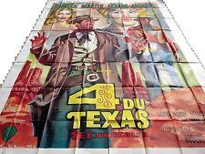 4 DU TEXAS andress f sinatra affiche cinema geante 320x240cm western 1963 mascii