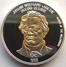 Mongolia 1999 Goethe 500 Tugrik Silver Coin,Proof