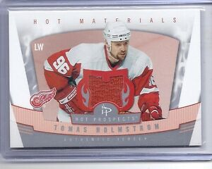06-07 2006-07 HOT PROSPECTS TOMAS HOLMSTROM MATERIALS JERSEY HM-TH RED WINGS
