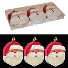 Christmas 3 Pack 8cm Santa Face Hanging Tree Decorations