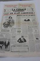 JOURNAL ANNIVERSAIRE LE CANARD ENCHAINE ACTU SATIRIQUE DU 16 SEPTEMBRE 1981