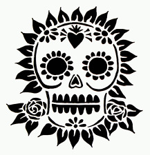 "5"" SUGAR SKULL STENCIL ROSES TEMPLATE TEMPLATES CRAFT ART STENCILS NEW BY TCW"