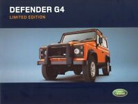 LAND ROVER 2003- DEFENDER 90 Td5 G4-EDITION RETRO POSTER PRINT CLASSIC ADVERT A3