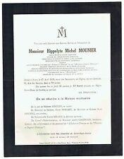 Avis de Décès Michel Mounier - Chevalier Légion Honneur - Paris 1933