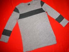 ALL SAINTS RARE LONG SLEEVE T-SHIRT TEE TOP WITH STRIPE - BROWN - S SMALL*