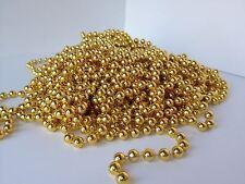 KRAFTZ® Christmas Xmas Metallic Bead Garland 5m x 8mm Tree Decoration (Gold)