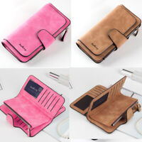 NEW Women Lady Soft Leather Wallet Phone Card Holder Long Clutch Purse US STOCK