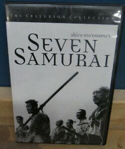 Seven Samurai Criterion Collection DVD Akira Kurosawa Toshiro Mifune samurai