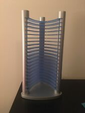 Vintage BLUE CD/DVD Media Storage Tower Stand Organizer Rack