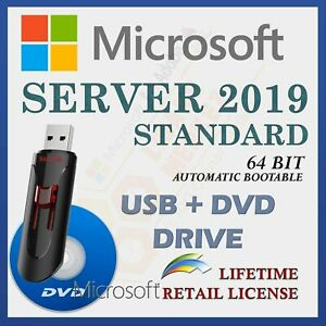 Product: Server 2019 Standard Sealed Box Option: USB Flash Drive
