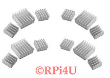 Lot of 4 Raspberry Pi Heatsink Set Aluminum - Protect your Pi from Overheating