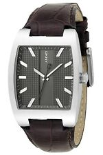 DKNY MEN'S LUXURY DRESS BROWN LEATHER WATCH NY1426