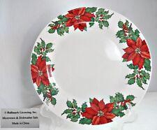 New listing Hallmark Christmas Poinsettia & Holly Dinner Plate