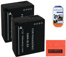 2 DMW-BLE9 Batteries for Panasonic Lumix DMC-GF3 DMC-GF5 Digital Camera