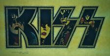 KISS glitter letters group aucoin vintage retro tshirt transfer print new, NOS