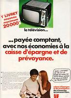 Publicité ancienne la télévision 1970 issue de magazine