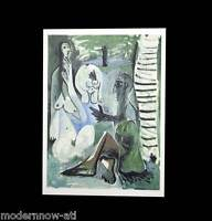 P. PICASSO Lithograph -Limited ed. 106/150 ARCHES +Cat. Ref. c118* +CUSTOM FRAME