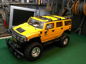 HUGE RC Car New Bright Hummer H2 Yellow Remote Control Toy Model VTG Rare