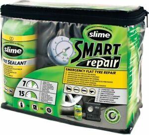 Slime CRK0305IN Smart Emergency Flat Tyre Repair Sealant Kit & Air Compressor