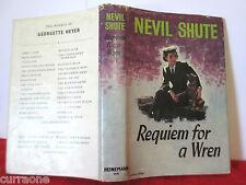 Nevil Shute REQUIEM FOR A WREN 1955 HCDJ First Australian edition