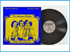 The Andrews Sisters Worth Remembering UK Record Magic Awe 4