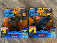 """🔥 NEW Godzilla vs Kong BATTLE ROAR Godzilla & Kong 7"""" Monsterverse Playmates"""